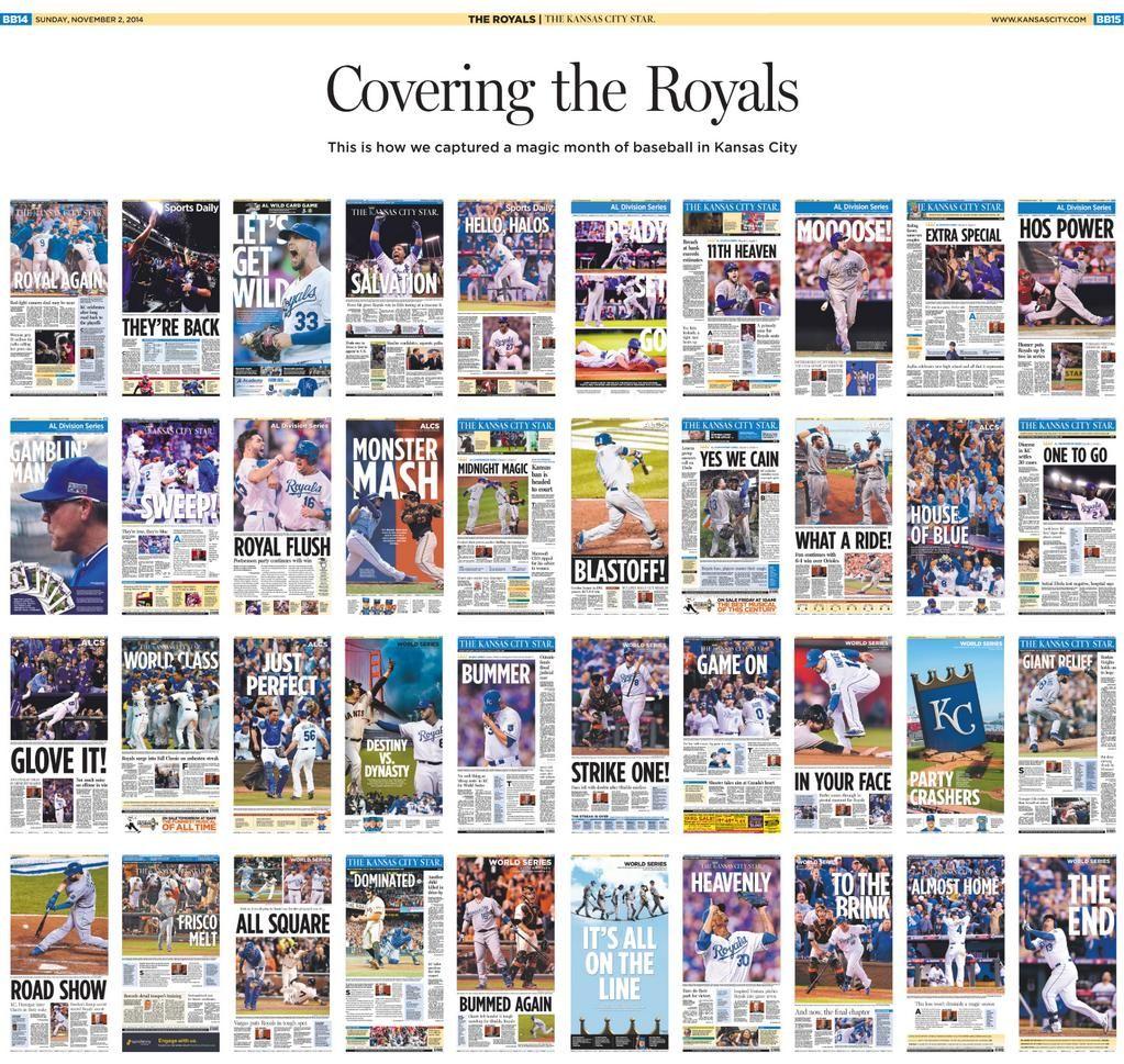 Compilation Poster Of 40 Kc Star Front Pages L Via Kcstar On Twitter Kansas City Kansas Royals Poster