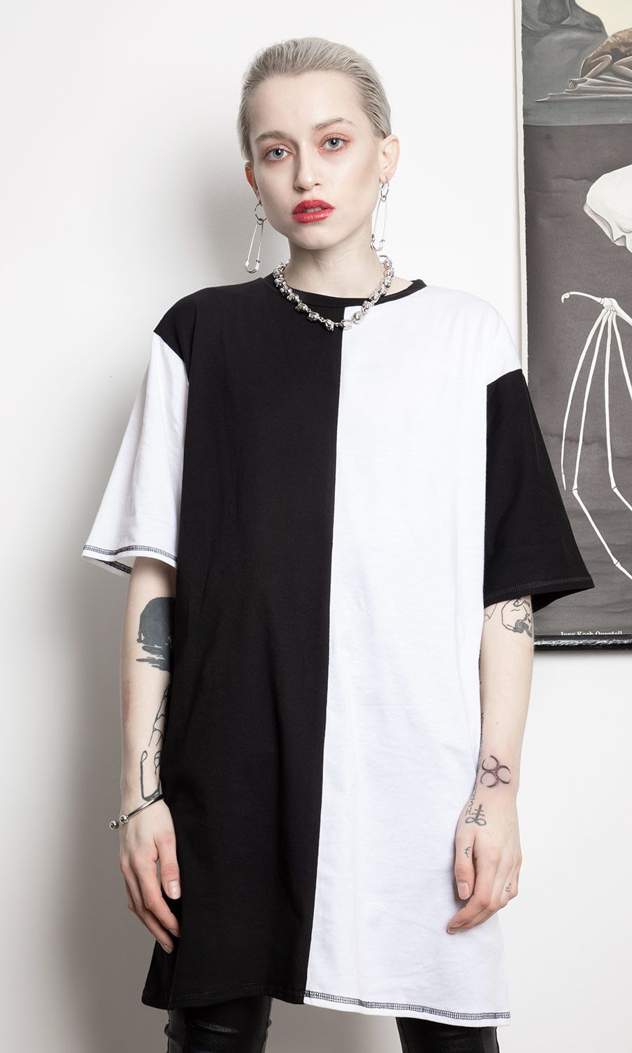 cca29aa7ad3f Duality Tee Dress - Disturbia Clothing | cute clothes in 2019 | Tee ...