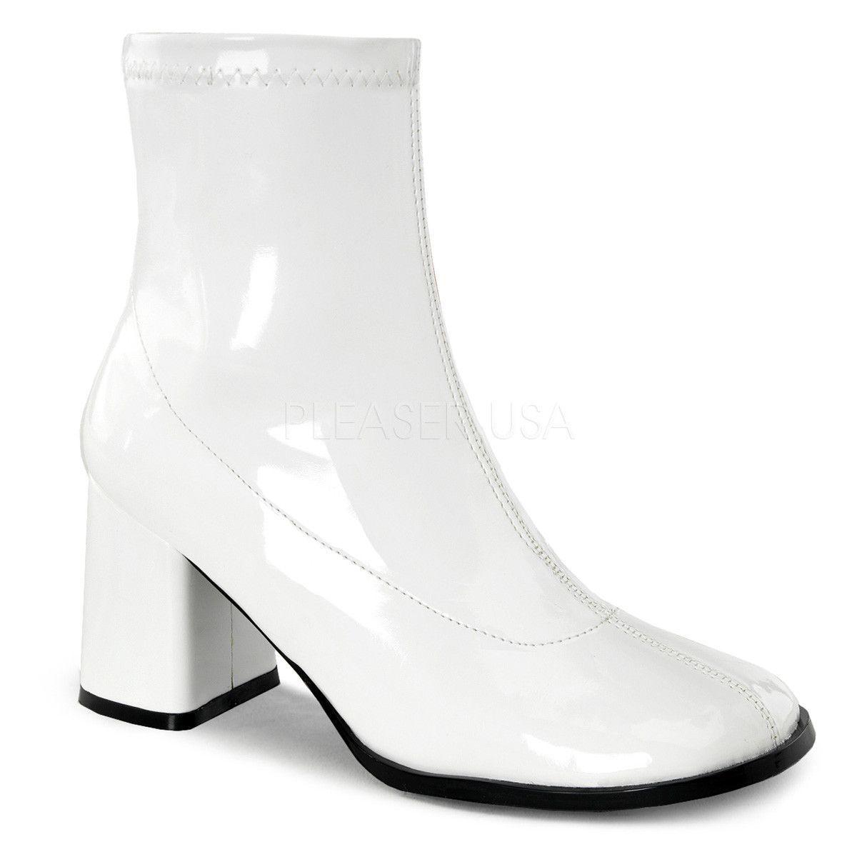 Funtasma GOGO-150 White Gogo Boots