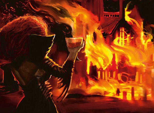 Past in Flames : Flashback, alternative cost   Magic art, Mtg ...