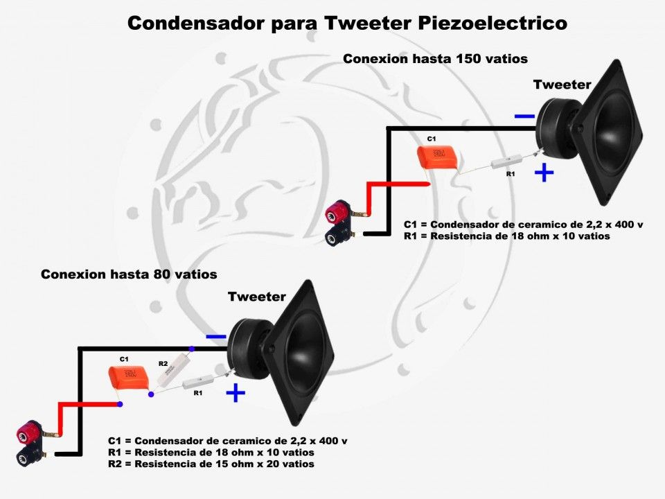 taringa conexiones muy simples para parlantes crossover pasivo rh pinterest com