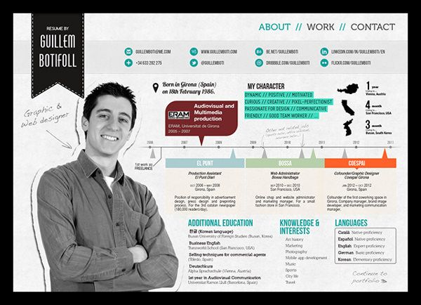 50 Awesome Resume Designs That Will Bag The Job Design resume - personal resume website example