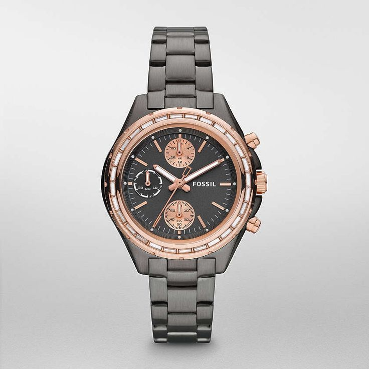 468d53baabd37 FOSSIL® Watch Styles Rose Watches Women Dylan Stainless Steel Watch – Smoke  with Rose CH2825