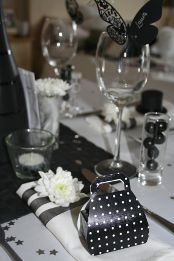 Contemporary themed wedding favours