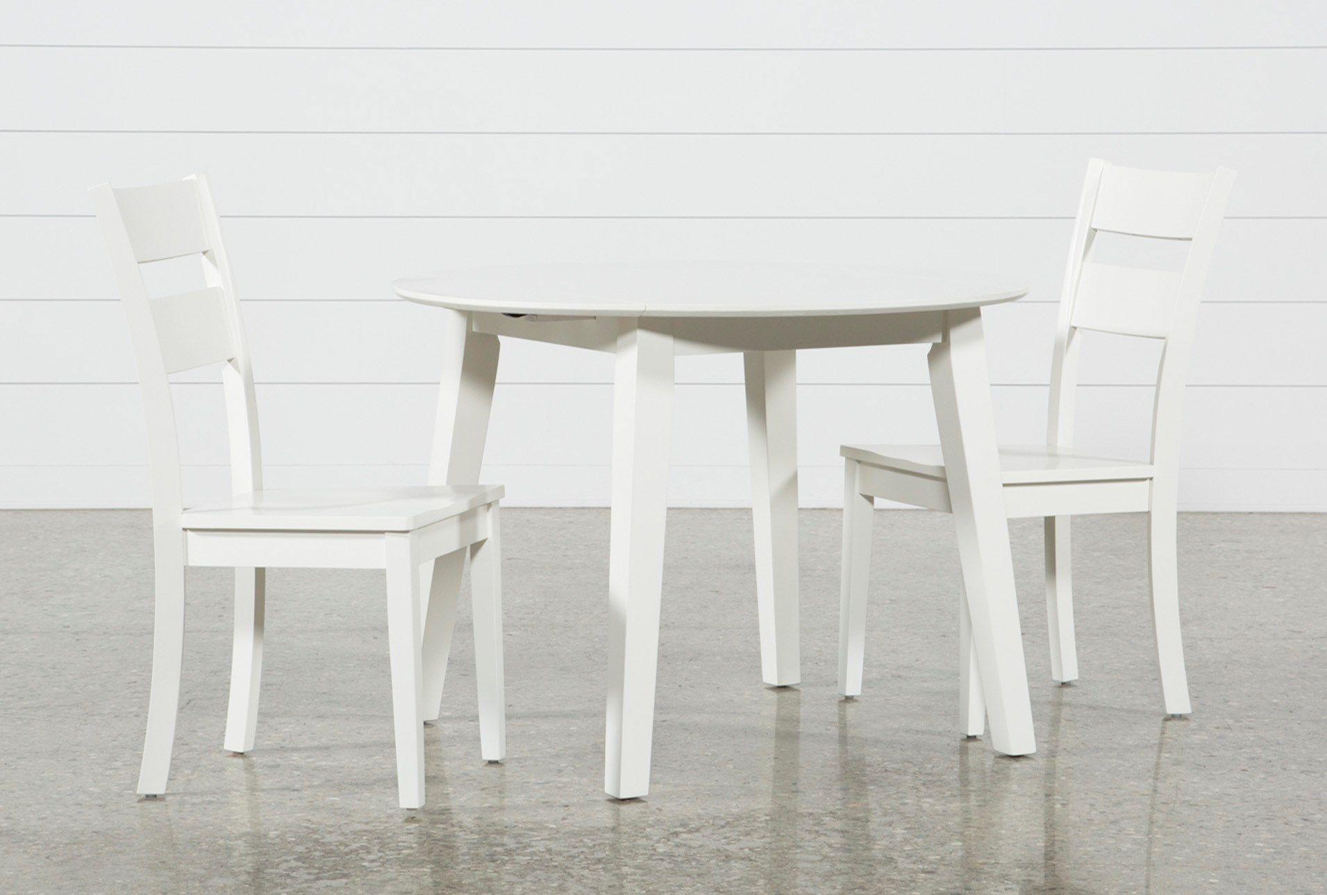 Moxy 3 Piece Paper White Round Dining Set