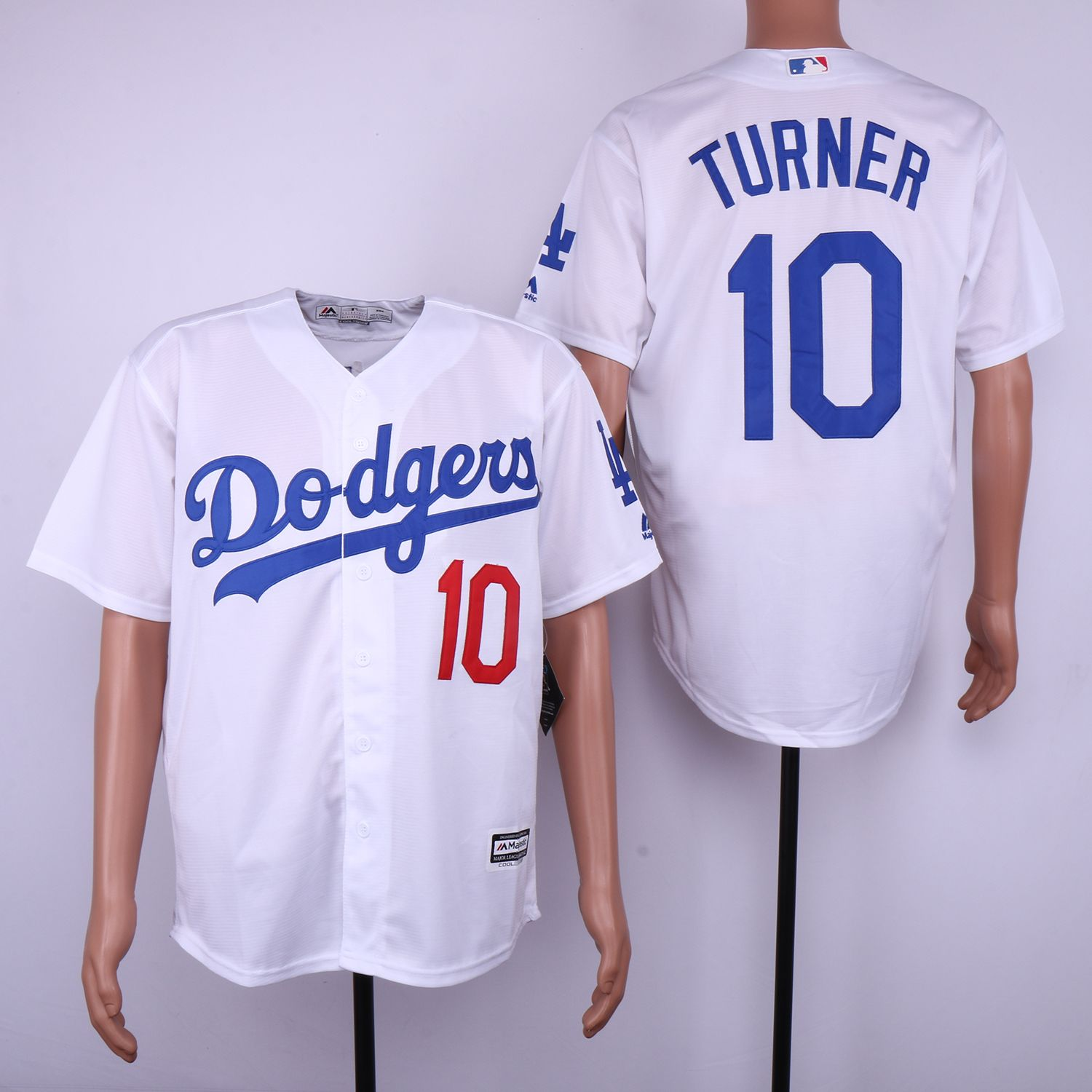 new product 3e774 2e020 Dodgers 10 Justin Turner White Cool Base Jersey | Los ...