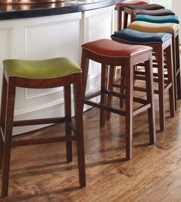 Add A Splash Of Color To Your Kitchen Or Bar Area With Grandin Roadu0027s  Julien Leather