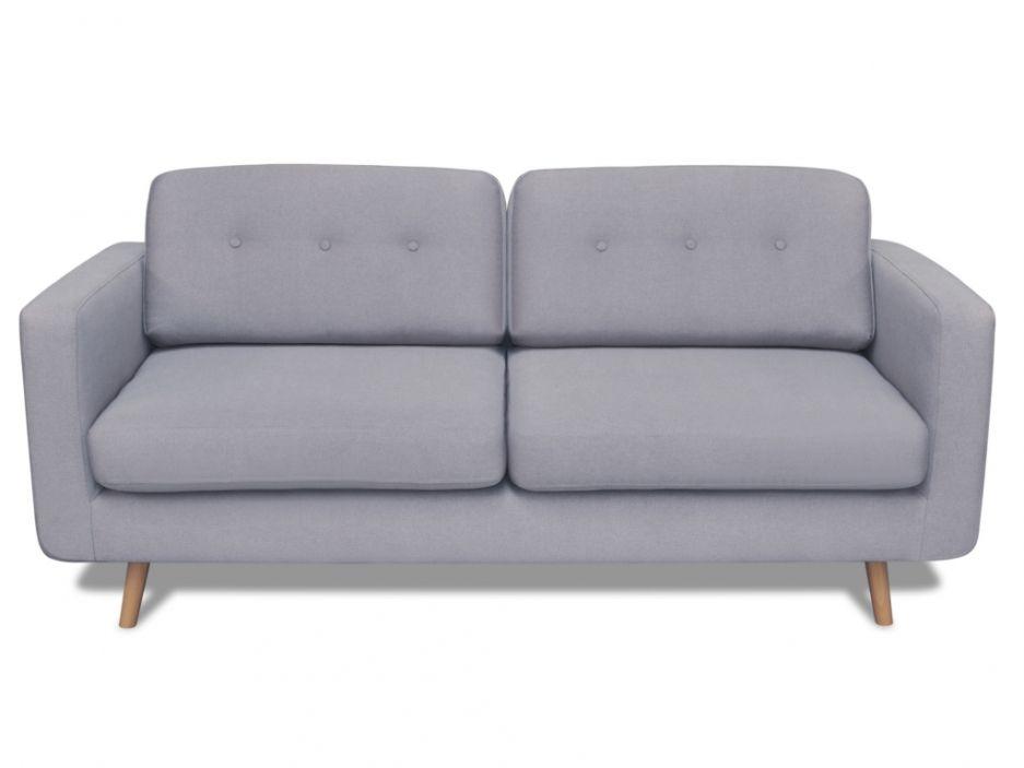 3-Sitzer Sofa Stoff Sixtine - Grau sofas Pinterest Unique - wohnzimmer couch günstig