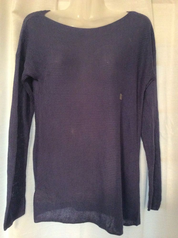 Ann Taylor Loft Ladies Light Weight Blue Knit Top sz Small NEW With ...