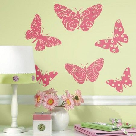 Flocked Butterfly Giant Wall Decals