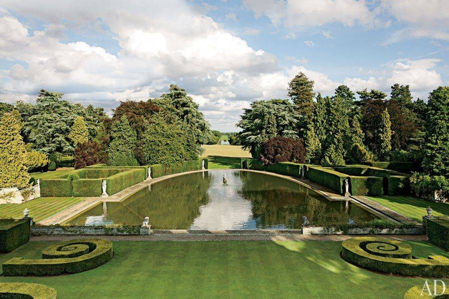 Easton Neston Reborn Architectural Digest Hedges Landscaping English Country House