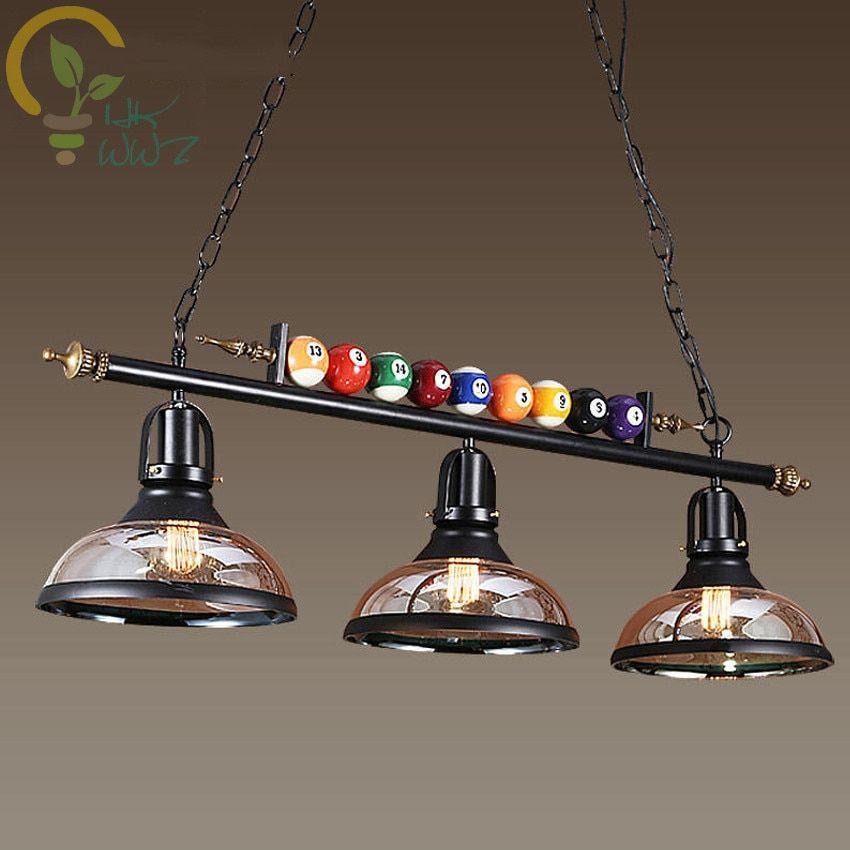 Creative Pool Table Pendant Lamp Nordic Decorate Lights Retro