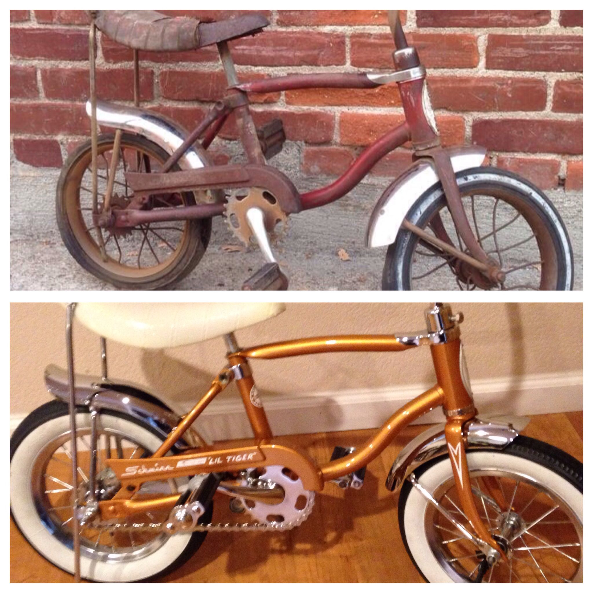 00aa06e2d7f Before and after Schwinn lil tiger | SoCal Schwinn's | Bicycle ...