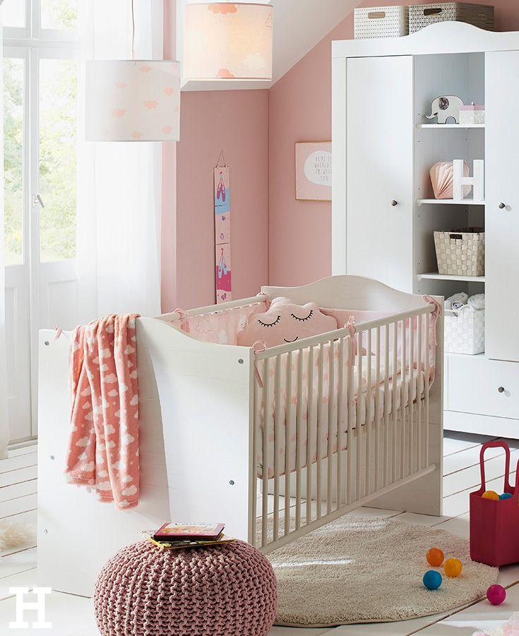 Kinderbett 70x140 weiß Linda | Babyzimmer, Landhausstil und Rosa
