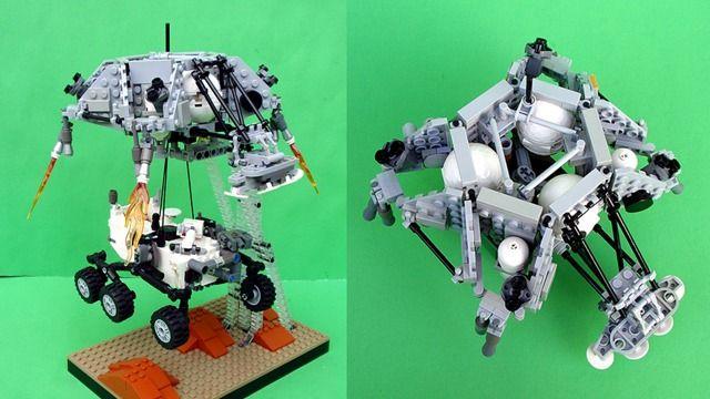 Lego Curiosity Rover and Skycrane | SkyNet | Pinterest | Curiosity rover