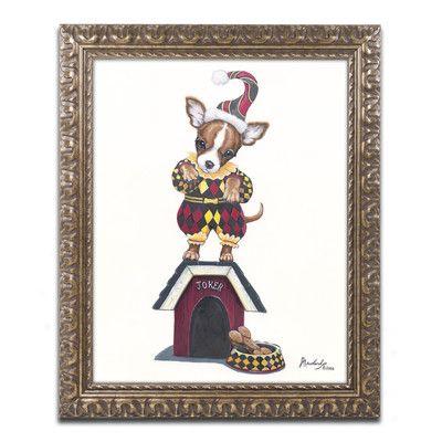 "Trademark Art 'Joker 1' by Jenny Newland Framed Graphic Art Size: 20"" H x 16"" W x 0.5"" D"