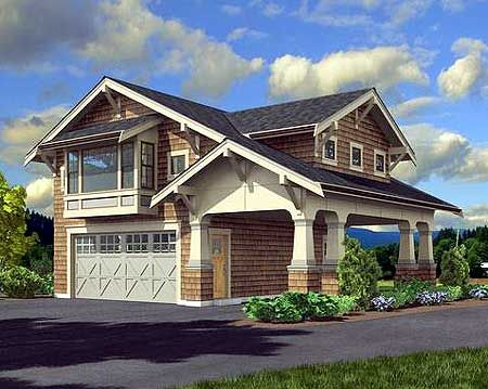 Plan 23484jd craftsman garage apartment carriage house for Garage apartment ideas