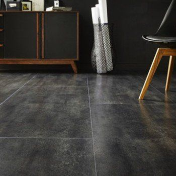 Dalle stratifiée effet béton noir, Ep8 mm, Novofloor Leroy Merlin - epaisseur dalle beton maison