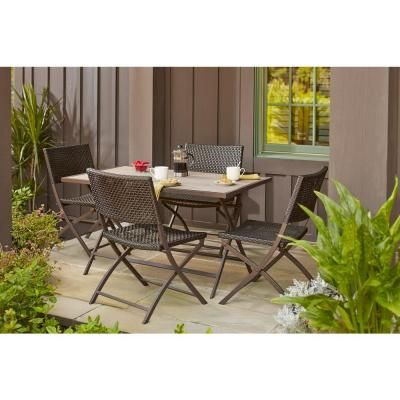 home depot patio furniture. Hampton Bay Fairplay Folding Woven Patio Chair - The Home Depot Furniture T