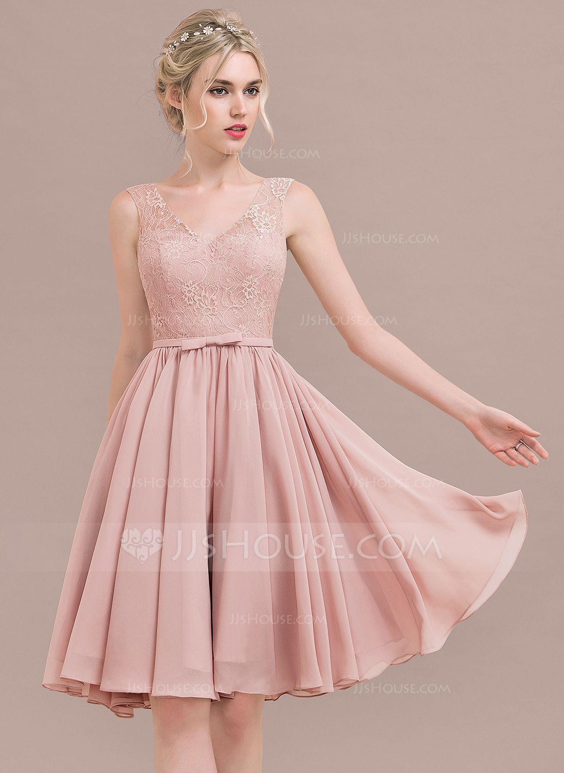 Vestidos princesa/ Formato A Decote V Coquetel Tecido de seda Renda ...