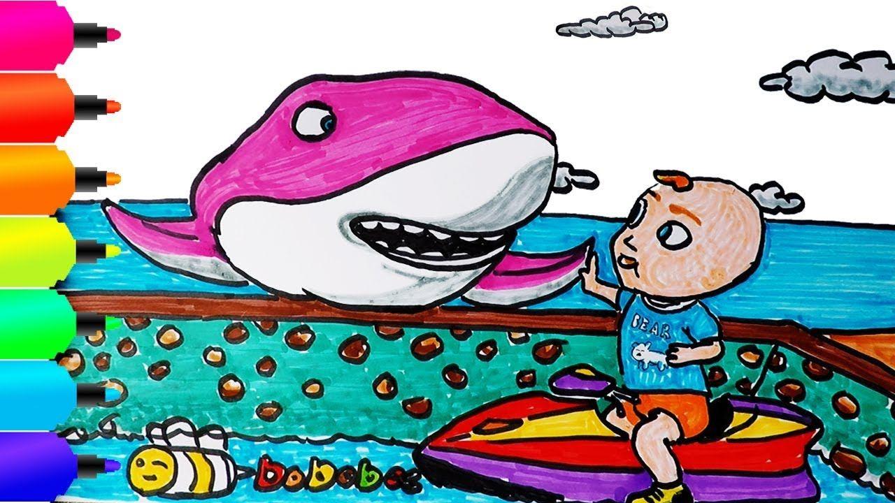Bobobee Dan Ikan Hiu Menggambar Dan Mewarnai Learn Colors For