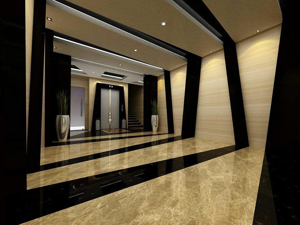 Marble Building Entrance Framed Bathroom Mirror Interior Home Decor