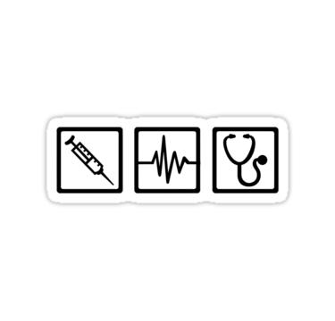 Pegatina Jeringa De Estetoscopio De Equipos Medicos De Designzz En 2021 Estetoscopio Medico Dibujo Pegatinas