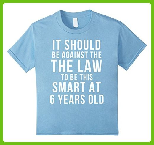Kids 6 Year Old Birthday T Shirt July 6th Gift 8 Baby Blue