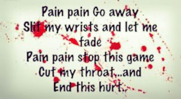 Real Life Poems Quotes Magnificent Pain Pain Go Away. *depression*  Pinterest  Pain D'epices And