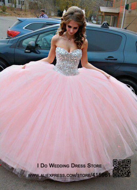 015dd384b1 Vestido de Debutante Pink Strapless Sweet 16 Quinceanera Dresses Ball Gown  Crystals Floor Length Vestidos de 15 anos E6495
