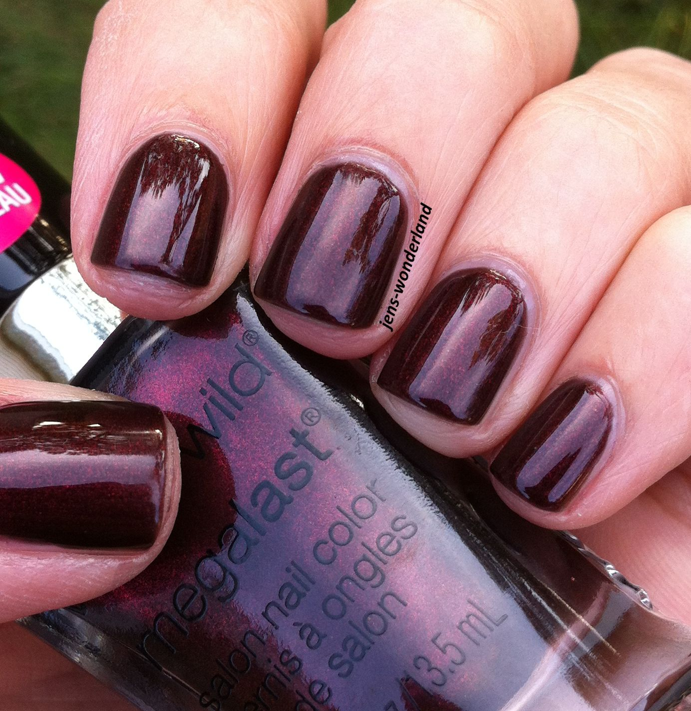 Wet n Wild Megalast Nail Polish: UNDER YOUR SPELL~deep red with a ...