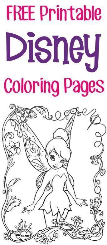 FREE Printable Disney Coloring Pages {Princess, Fairies, Pirates + - new disney coloring pages free to print