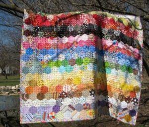 Rainbow Hexagons by beth