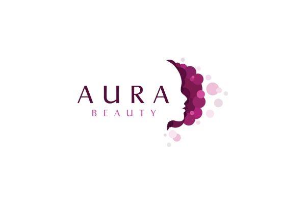 aura beauty face logo design for sale at strong logos