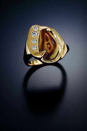 Ladies Elk Ivory Ring Rlei 118 D15 Elk Ivory Antler Jewelry Diamond Wedding Rings