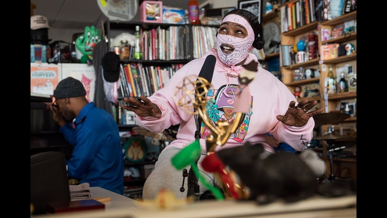 Leikeli47 Npr Music Tiny Desk Concert So Wise And Honest So Deep So Talented One Of The Best Tiny Concerts I Ve Ever Seen Black Music Indie Music Music