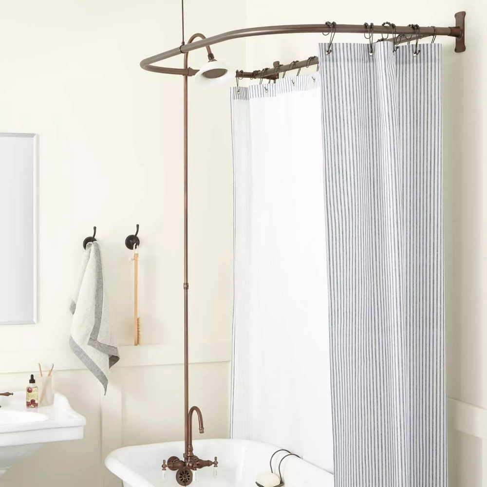 Sturdy And Stylish This Code Style Clawfoot Tub Shower Conversion