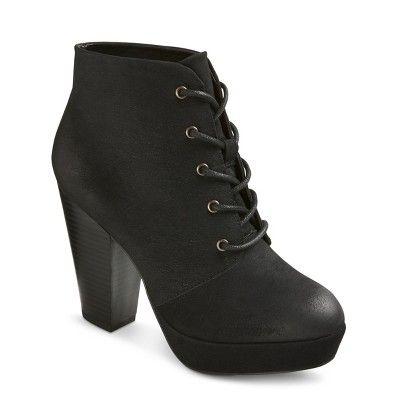 target black bootie heels
