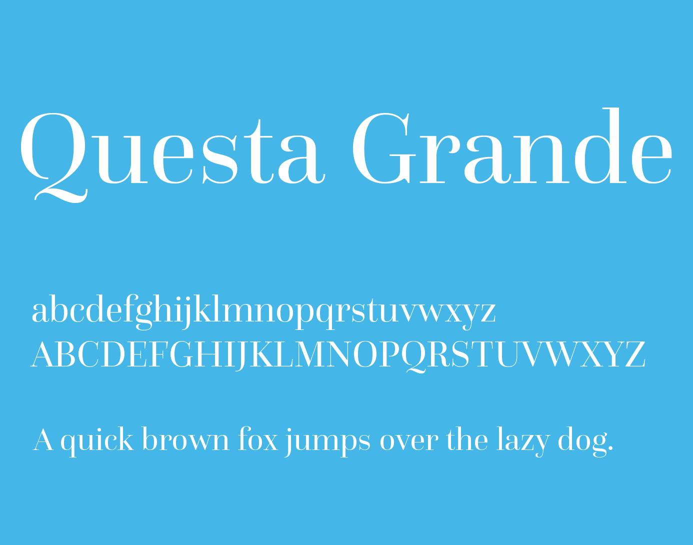 Questa Grande Font Free Download | Fonts | Free fonts