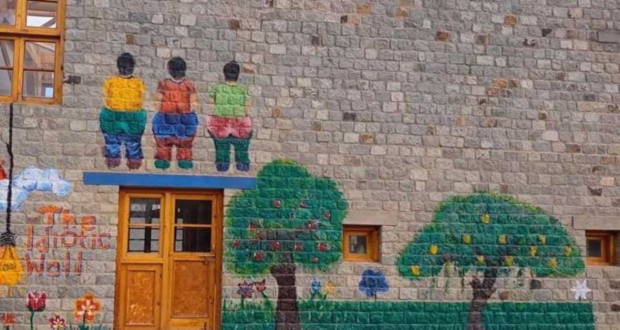 Image Result For Painted Wall School Name Mural Ideas Painting