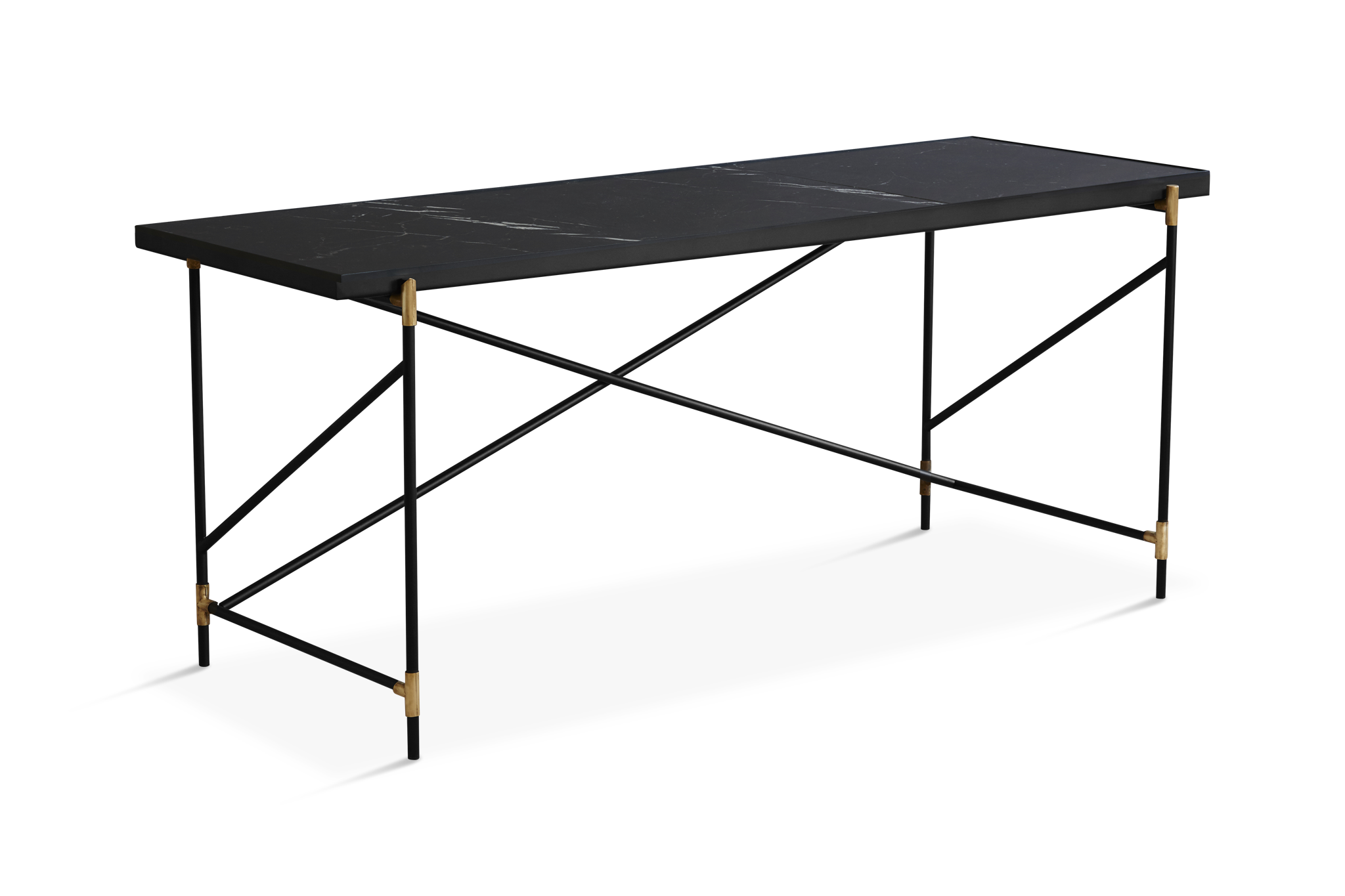 Desk Table Black Marble Tile Top Tables