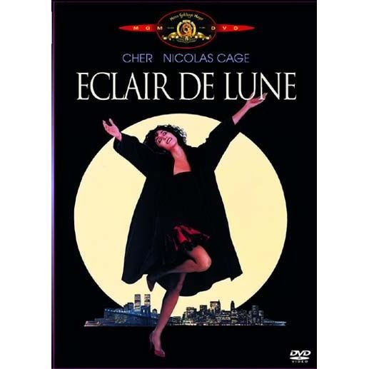 Eclair de lune, 1987.  Cher won a Best Actress Academy Award for her role as Loretta Castorini, a woman who is tempted away from her boyfriend Johnny Cammareri (Danny Aiello) by his younger brother Ronny (Nicolas Cage). At the same time, she has to please her very opinionated, very loud Sicilian family.