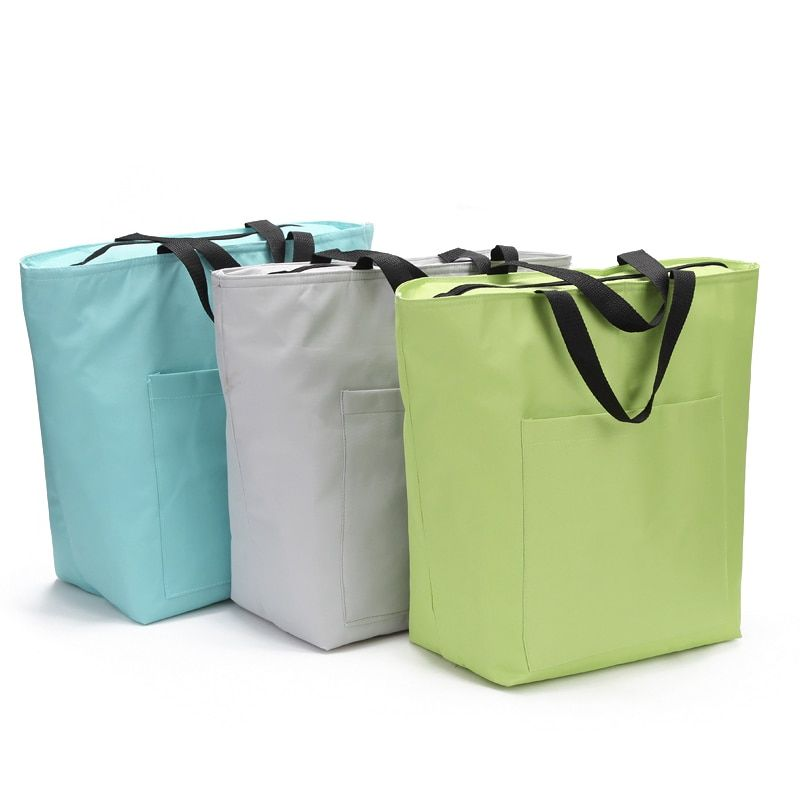 21l Large Cooler Bag Thermal Supermarket Insulated Shopping Tote Bag Ice Pack Thermos Lunch Picnic Food Drinks Wine C Cooler Bag Shopping Tote Bag Large Cooler