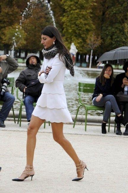 Celeb Celebrity Wearing Valentino Rockstud Studded Spiked