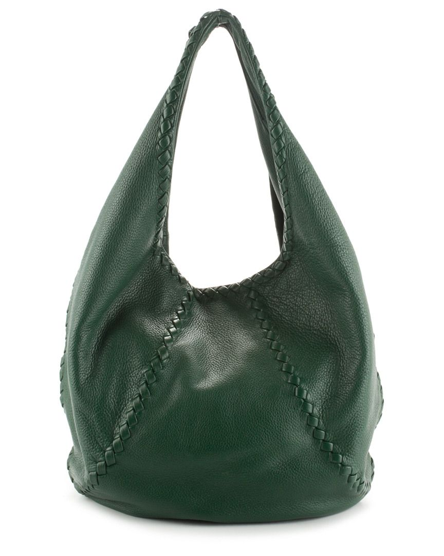 2686836837df Bottega Veneta Green Leather Large Cervo Hobo is on Rue. Shop it now ...