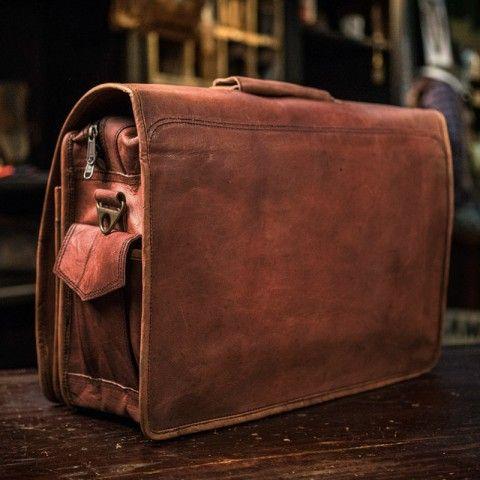 Everett Men S Vintage Leather Messenger Bag Backordered Ships 10 17 16