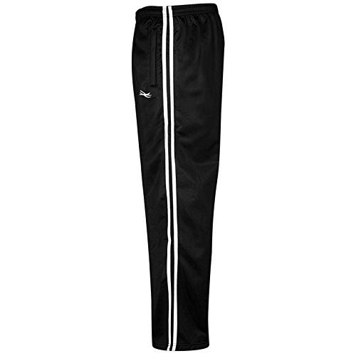 shelikes Kids Boys Girls Tracksuit Bottoms Joggers Jogging Striped Gym Sports Silky Pants Trousers