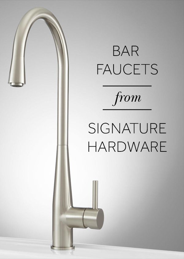 Signature Hardware Has The Perfect Bar Faucet For You And Your Space Signature Offers A Wide Variety Of Faucets Available I Bar Faucets Faucet Bar Sink Faucet