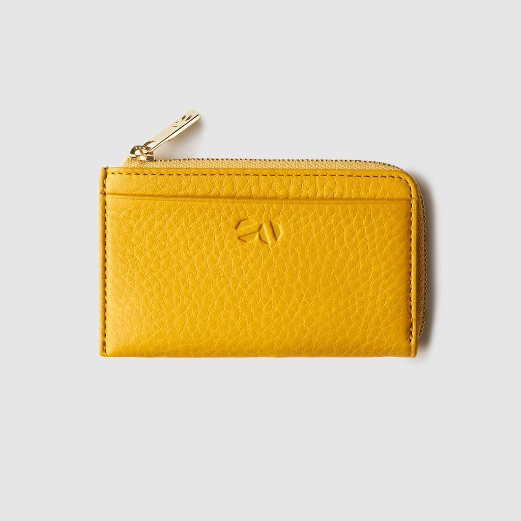 Octovo NYC Leather Wallet   Yellow