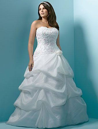 One of the simplest cuts for a plus size bride is the typical a-line ...